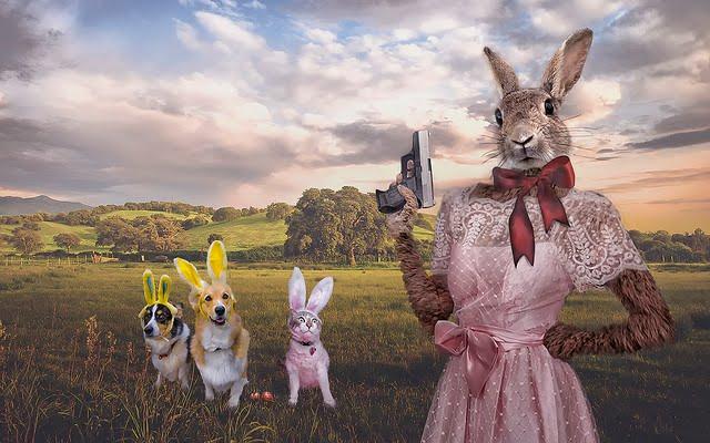 Bunny's got a gun.
