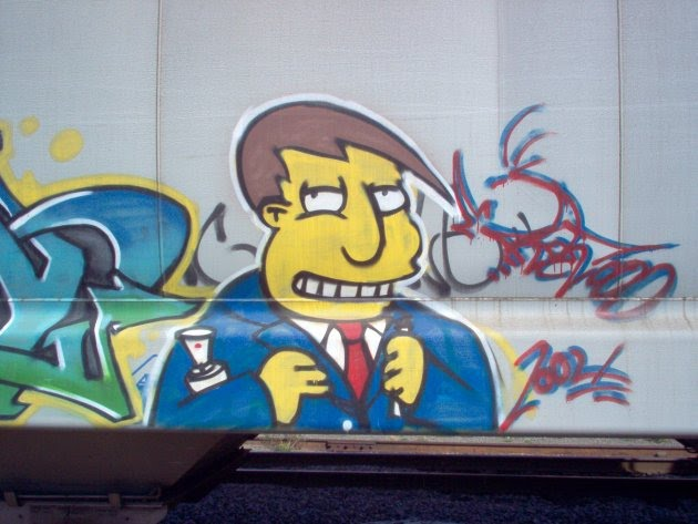Graffiti of Mayor Quimby