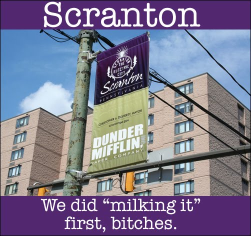 Scranton: We did 'milking it' first